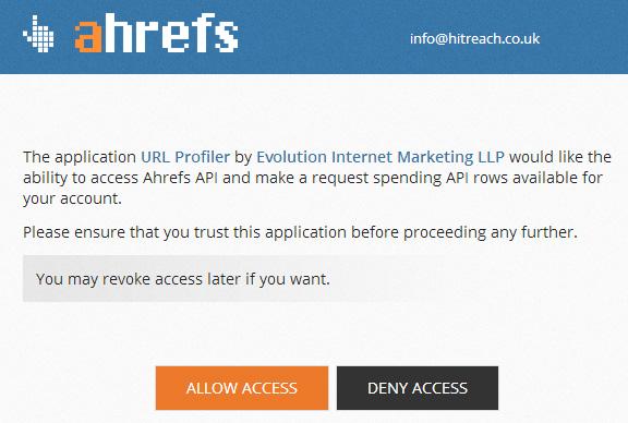 Ahrefs Grant Access