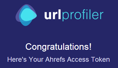 Ahrefs API success