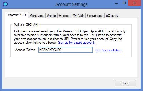 Majestic API Key