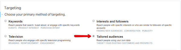 Targeting Tailored Audiences on Twitter