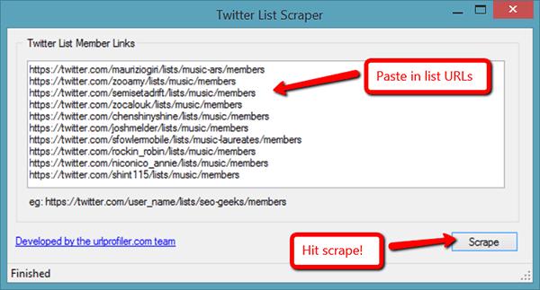 Twitter List Scraper