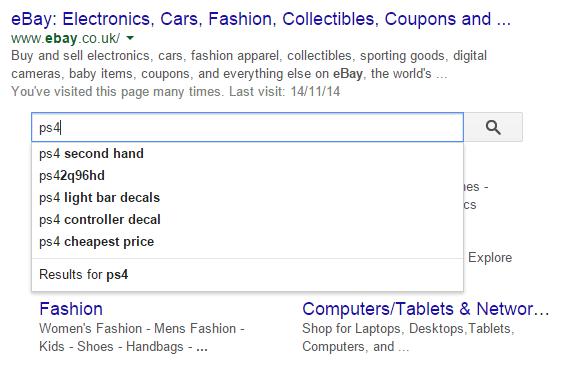 Ebay Site Search