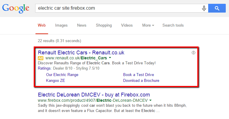 Firebox Site Search