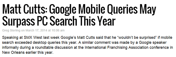 Google Mobile Queries