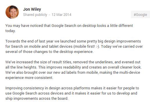 Jon Wiley G+ Announcement