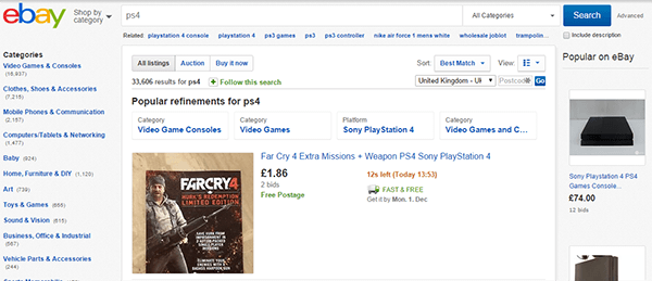 PS4 Search Ebay