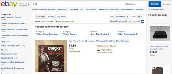 PS4 Search Ebay