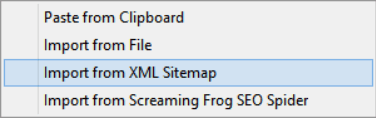 Import from Sitemap