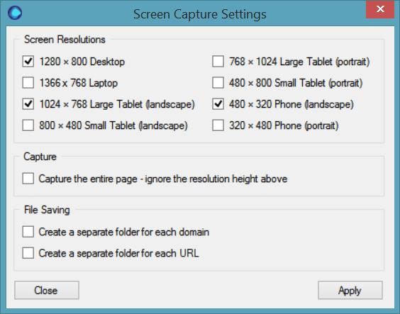 Screen Capture Options