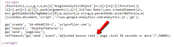Google Analytics Adjusted Bounce Rate