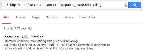 Info Documentation Page