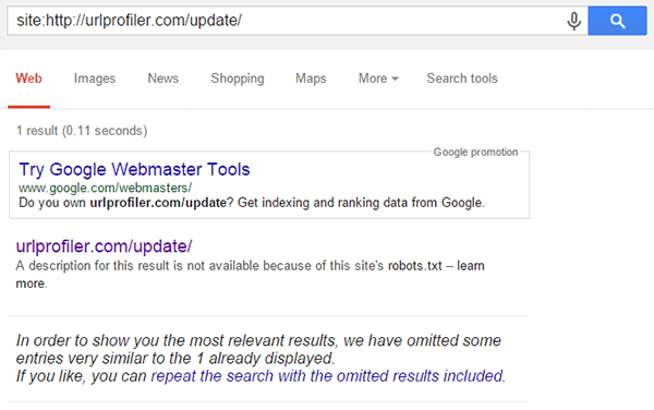 Update Omitted Results