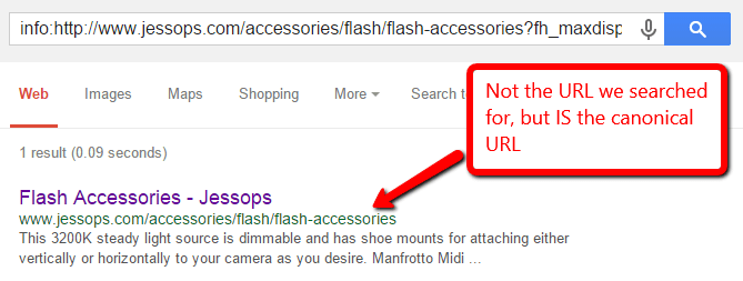 Not The URL We Searched For