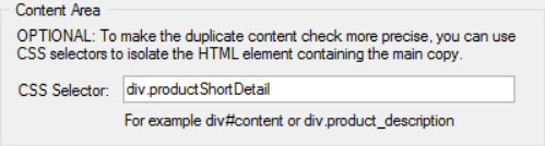 URL Profiler CSS Selector