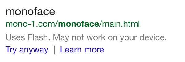 Monoface on Mobile