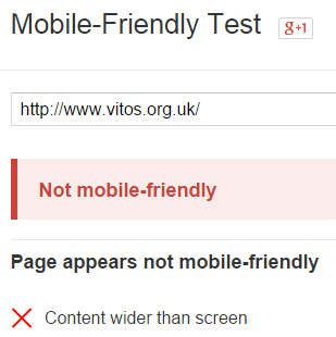 Vitos Not Mobile Friendly