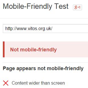 Vitos Not Mobile Friendly
