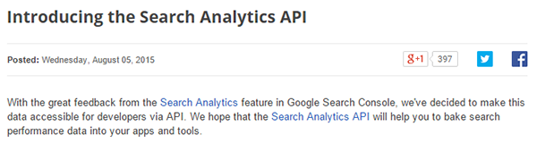 Search Analytics API