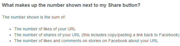 Facebook Share Count