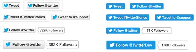 Twitter Tweet Buttons