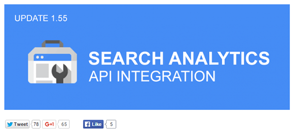 Search Analytics Integration