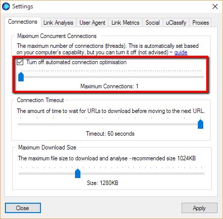 Slow Down URL Profiler