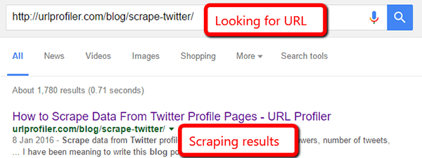 Scraping Google Results